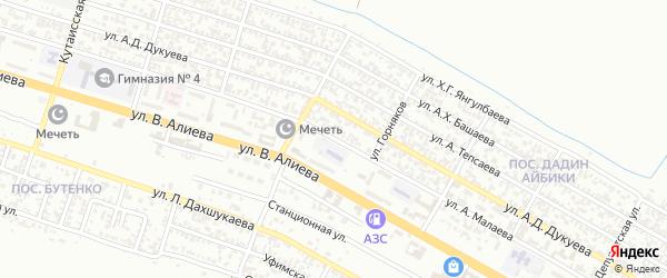 Угольная улица на карте Грозного с номерами домов