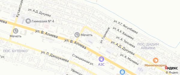 Улица им Адама Малаева на карте Грозного с номерами домов
