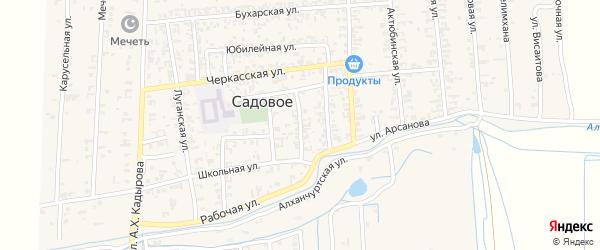 Стадионная улица на карте Садового села с номерами домов