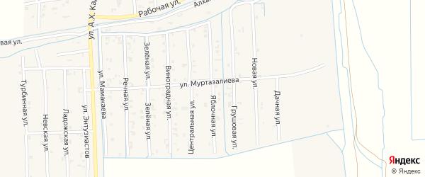 Яблочная улица на карте Садового села с номерами домов