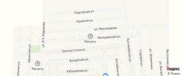 Молодежная улица на карте Садового села с номерами домов