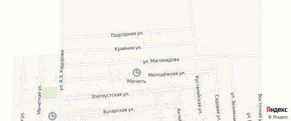 Улица Магомадова на карте Садового села с номерами домов