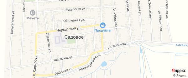 Улица Арсанова на карте Садового села с номерами домов