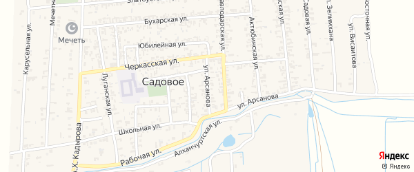 Улица Арсанова на карте Грозного с номерами домов