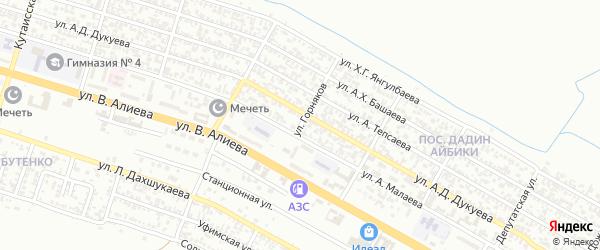 Улица Горняков на карте Грозного с номерами домов