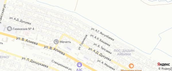 Грузинская улица на карте Грозного с номерами домов