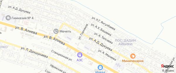 Улица Шахтеров на карте Грозного с номерами домов