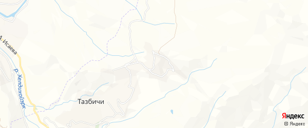 Карта села Тазбичи в Чечне с улицами и номерами домов