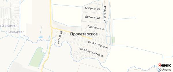 Карта Пролетарского села в Чечне с улицами и номерами домов