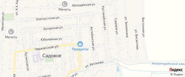 Актюбинская улица на карте Садового села с номерами домов
