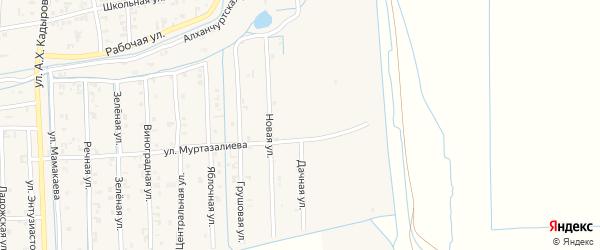 Дачная улица на карте Садового села с номерами домов