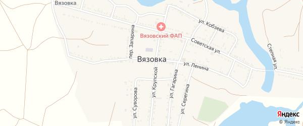 Улица Запарина на карте села Вязовки с номерами домов
