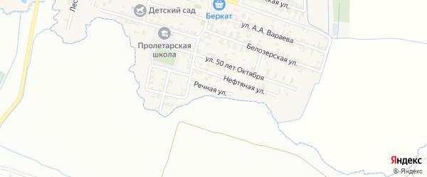 Нефтяная улица на карте Пролетарского села с номерами домов