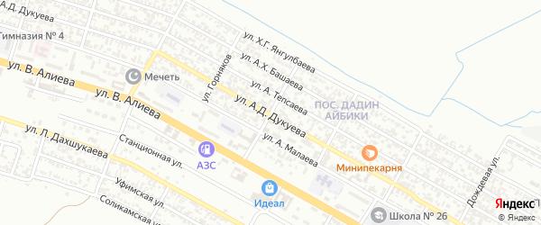 Армянская улица на карте Грозного с номерами домов