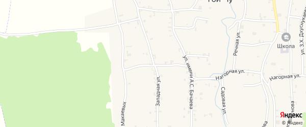 Западная улица на карте села Гой-чу с номерами домов