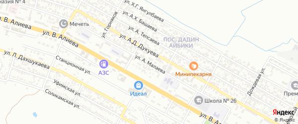 Городок Иванова на карте Грозного с номерами домов
