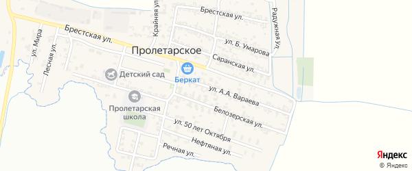 Николаевская улица на карте Пролетарского села с номерами домов