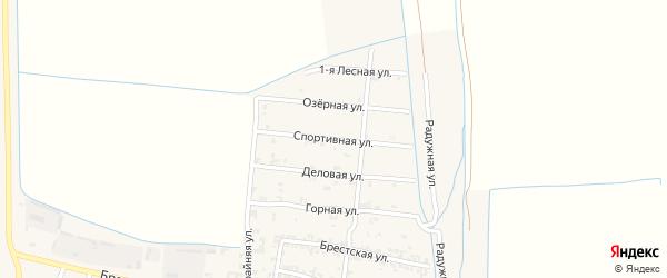 Спортивная улица на карте Пролетарского села с номерами домов