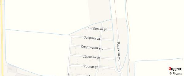 Озерная улица на карте Пролетарского села с номерами домов