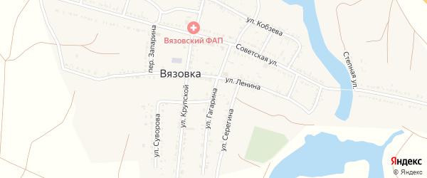 Улица Гагарина на карте села Вязовки с номерами домов
