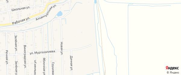Алханчуртская улица на карте Садового села с номерами домов