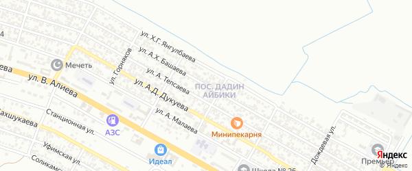 Ключевая улица на карте Грозного с номерами домов
