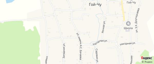 Улица им А.С.Бачаева на карте села Гой-чу с номерами домов
