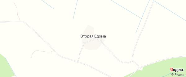 Карта деревни Второй Едомы в Архангельской области с улицами и номерами домов