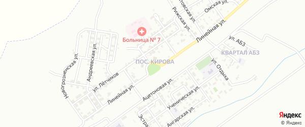 Кирова 6-й переулок на карте Грозного с номерами домов