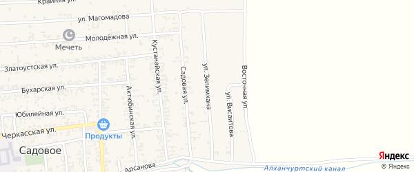 Улица Зелимхана на карте Садового села с номерами домов