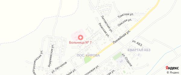 Азовская улица на карте Грозного с номерами домов
