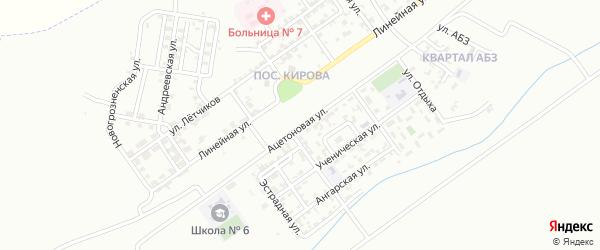 Ацетоновая улица на карте Грозного с номерами домов