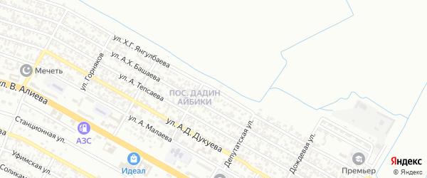 Пограничная улица на карте Грозного с номерами домов