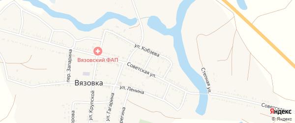 Лизы Чайкиной переулок на карте села Вязовки с номерами домов