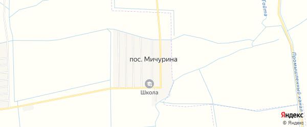 Карта поселка Мичурина в Чечне с улицами и номерами домов