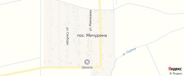 Улица А.Исабаева на карте поселка Мичурина с номерами домов
