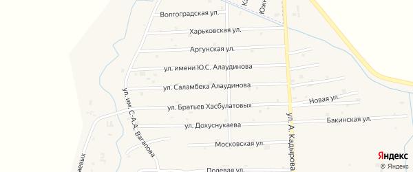 Киевская улица на карте села Гой-чу с номерами домов