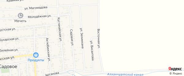Улица Висаитова на карте Садового села с номерами домов