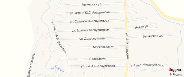 Улица им У.А.Дохуснукаева на карте села Гой-чу с номерами домов