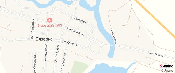 Советская улица на карте села Вязовки с номерами домов