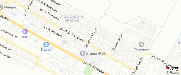 Депутатская улица на карте Грозного с номерами домов