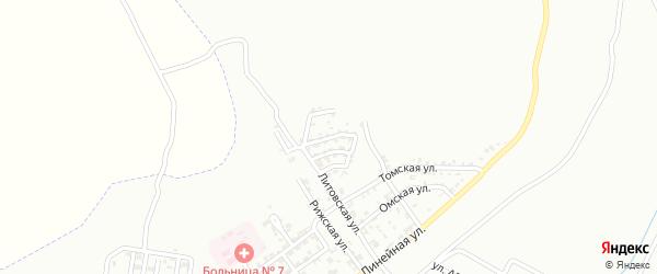 Литовский 3-й переулок на карте Грозного с номерами домов
