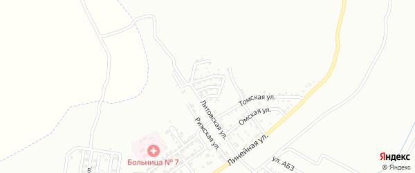 Литовский 2-й переулок на карте Грозного с номерами домов