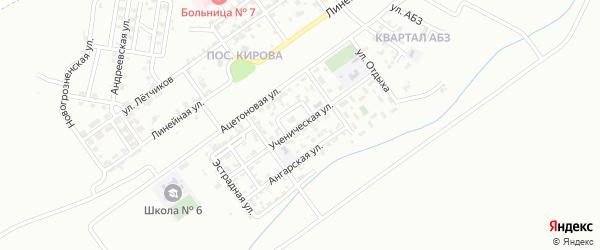 Ученическая улица на карте Грозного с номерами домов