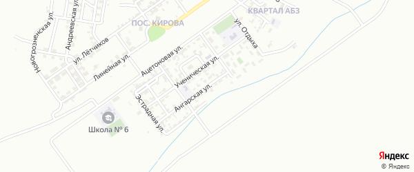 Ангарская улица на карте Грозного с номерами домов