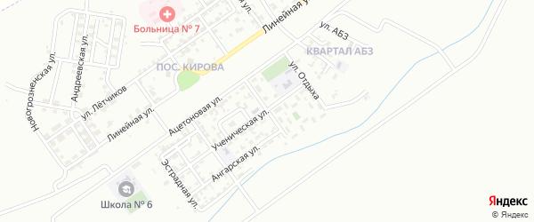 Ржевская улица на карте Грозного с номерами домов