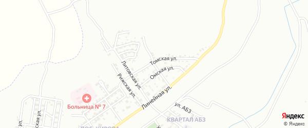 Каменская улица на карте Грозного с номерами домов