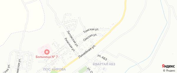 Омская улица на карте Грозного с номерами домов