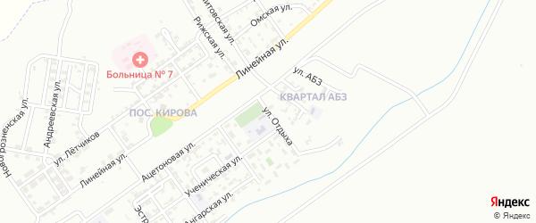 Улица Отдыха на карте Грозного с номерами домов