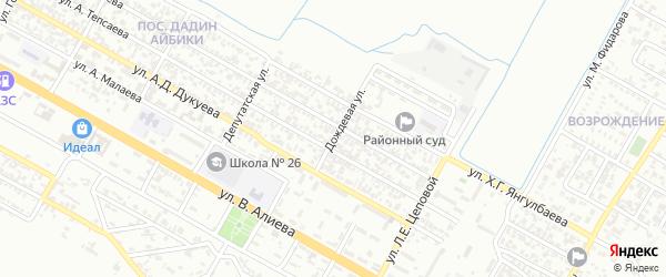 Дождевая улица на карте Грозного с номерами домов